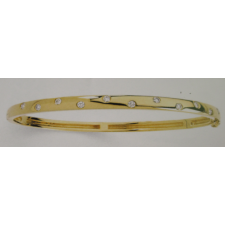 14kt Diamond Bangle Bracelet