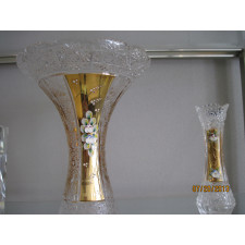 Gold Plated Crystal Vase