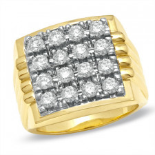 Men's 2 CT Diamond  Ring in 14K Gold